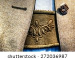 part of a typical old bavarian... | Shutterstock . vector #272036987