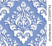 vector damask seamless pattern... | Shutterstock .eps vector #272039741