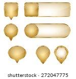 blank elegant golden vector web ...