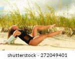 adorable woman female model in... | Shutterstock . vector #272049401