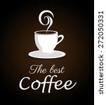 coffee design over brown... | Shutterstock .eps vector #272050331