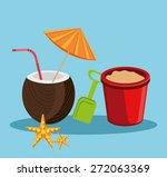 summer design over blue... | Shutterstock .eps vector #272063369