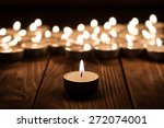 Group Of Burning Candles On ...