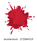 vector blood splatter on white... | Shutterstock .eps vector #272084519