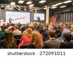 speaker at business conference... | Shutterstock . vector #272091011