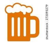 beer mug or beer glass flat...