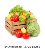 fresh vegetables and fruit in a ... | Shutterstock . vector #272115251