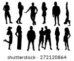 woman and man silhouettes design | Shutterstock .eps vector #272120864