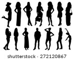 woman and man silhouettes design | Shutterstock .eps vector #272120867