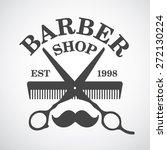 vintage barber shop logo... | Shutterstock .eps vector #272130224