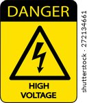 danger high voltage sign | Shutterstock .eps vector #272134661