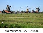 famous picturesque zaanse...   Shutterstock . vector #27214108