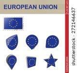 european union flag set  flag... | Shutterstock .eps vector #272146637