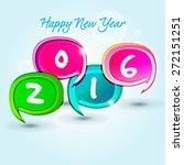 happy new year 2016 creative... | Shutterstock .eps vector #272151251