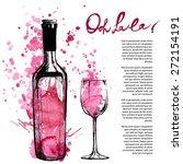 wine bottle illustration | Shutterstock .eps vector #272154191