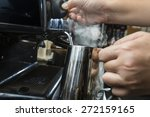 steaming milk froth for... | Shutterstock . vector #272159165