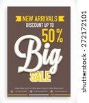 stylish big sale poster  banner ... | Shutterstock .eps vector #272172101