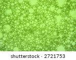 Macro close up of green soap bubbles. - stock photo