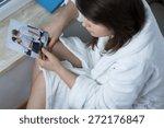 lonely despair woman suffering... | Shutterstock . vector #272176847