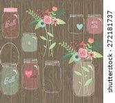 Wedding Mason Jar Floral...