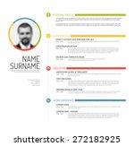 vector minimalist cv   resume...   Shutterstock .eps vector #272182925