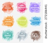 spring offer stickers with... | Shutterstock .eps vector #272186441