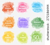 spring offer stickers with... | Shutterstock .eps vector #272186444