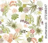 succulent plants seamless... | Shutterstock .eps vector #272188247