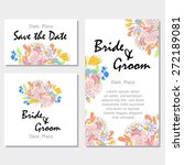 wedding invitation cards with... | Shutterstock .eps vector #272189081