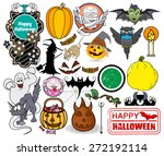 halloween graphics | Shutterstock .eps vector #272192114