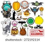 halloween graphics | Shutterstock .eps vector #272192114