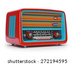 vintage radio on a white... | Shutterstock . vector #272194595
