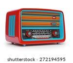 vintage radio on a white... | Shutterstock . vector #272194595