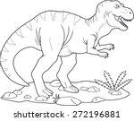 tyrannosaurus | Shutterstock .eps vector #272196881
