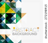 abstract geometric background.... | Shutterstock .eps vector #272198915
