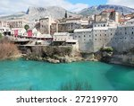 famous turistic place mostar on ... | Shutterstock . vector #27219970