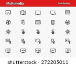 multimedia icons. professional  ... | Shutterstock .eps vector #272205011