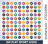 mega sport flat icon set