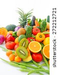 fresh vegetables with fruits  | Shutterstock . vector #272212721