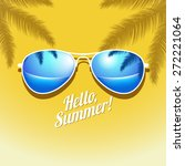vector summer poster with... | Shutterstock .eps vector #272221064