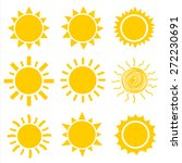 sun icons collection. vector | Shutterstock .eps vector #272230691