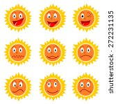 sun icons. beautiful elements... | Shutterstock .eps vector #272231135