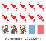 playing cards   hearts set  | Shutterstock .eps vector #272232944