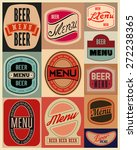 beer menu design with retro... | Shutterstock .eps vector #272238365