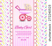 baby beautiful girl card with... | Shutterstock .eps vector #272240525