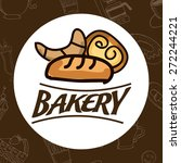 bakery shop design  vector... | Shutterstock .eps vector #272244221