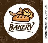bakery shop design  vector... | Shutterstock .eps vector #272244221