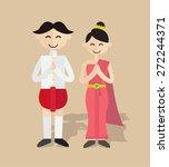Cartoon Thailand Boy And Girl ...