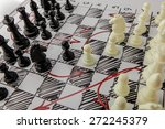 chess. white board with chess... | Shutterstock . vector #272245379
