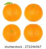 Collage Oranges Isolated